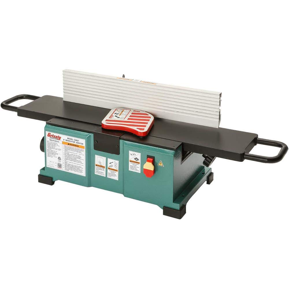Grizzly G0821-6'' x 30'' Benchtop Jointer with Spiral Cutterhead