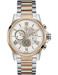 Mens Gc Esquire 42mm Two Tone Steel Bracelet Steel Case Quartz White Dial Analog Watch Y08008G1