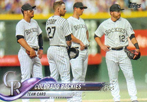 Colorado Rockies 2018 Topps Complete Mint Hand Collated 28 Card Team Set with Nolan Arenado, Charlie Blackmon and Trevor Story Plus