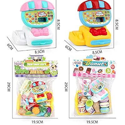 Etuoji 22pcs/Set Kids Durable Cash Register Toy Simulation Toy Set Role Play Pretend Toy Set Washing Machines: Clothing
