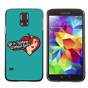 Designer Depo Hard Protection Case for Samsung Galaxy S5 / Life & Love