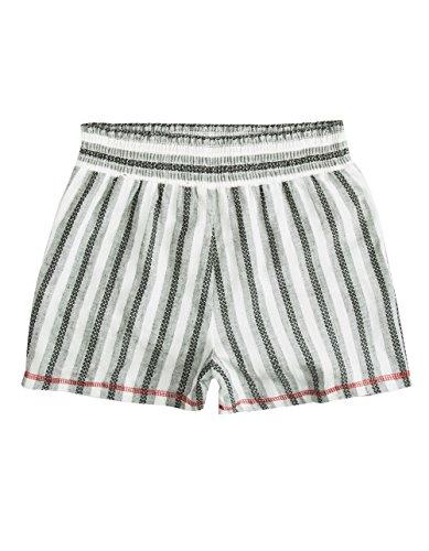 Full Tilt Stripe Girls Beach Shorts, Black/White, Large (Tilt Girls Shorts)