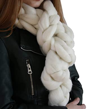 LEvifun Écharpes Femme Foulards Longue Chaud Solide Tresses de Tissage  Chèche Foulard Vogue en Automne Hiver 83ef74dd1bd
