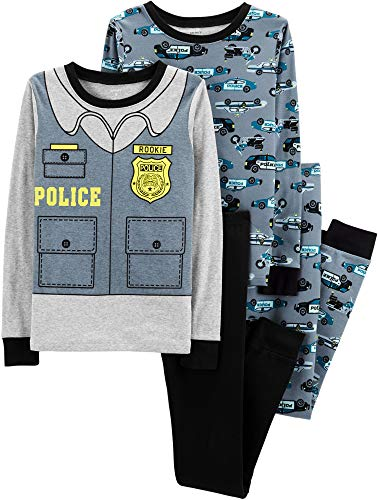 Carter's Toddler Boys 4 Pc Pajama PJs Sleep Play Sleep Snug fit Cotton Police Car