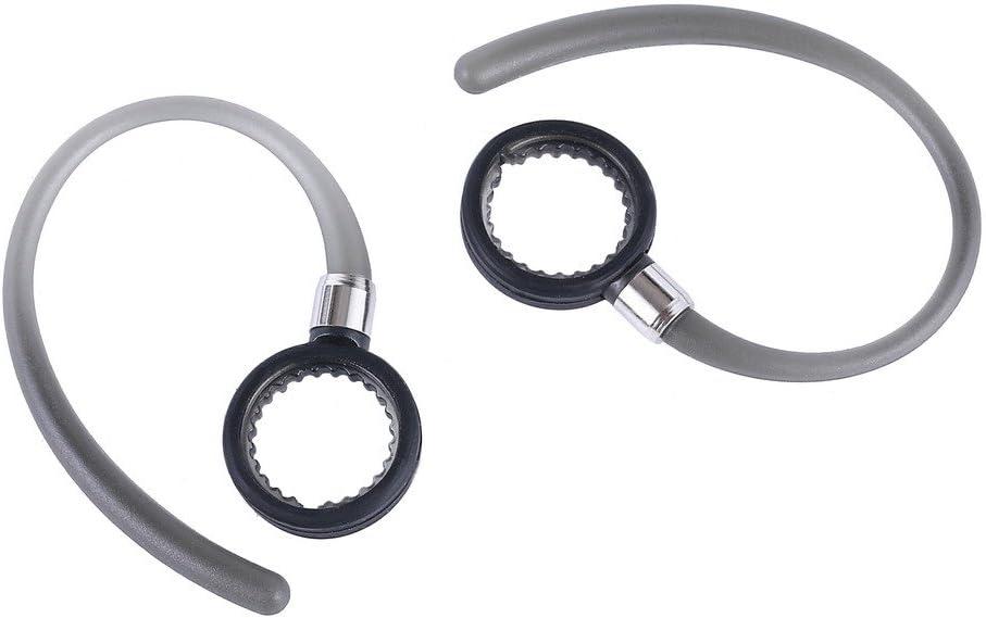 Pack of 4 4 Pcs Black Transparent Earhooks Compatible with Motorola Elite Flip HZ720 HX550 H19 H19txt H17 H17txt H525 H520 Boom 89605N Wireless Bluetooth Headset Earclip