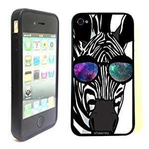 iPhone 4 4S Case ThinShell TPU Case Protective iPhone 4 4S Case Shawnex Zebra Geek Space Hipster Galaxy