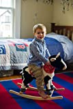 Animal Adventure | Real Wood Ride-On Plush Rocker | Farm Cow | Perfect for Ages