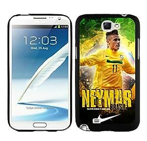 Neymar 67 Black Samsung Galaxy Note 2 Screen Cellphone Case Durable and Custom Skin