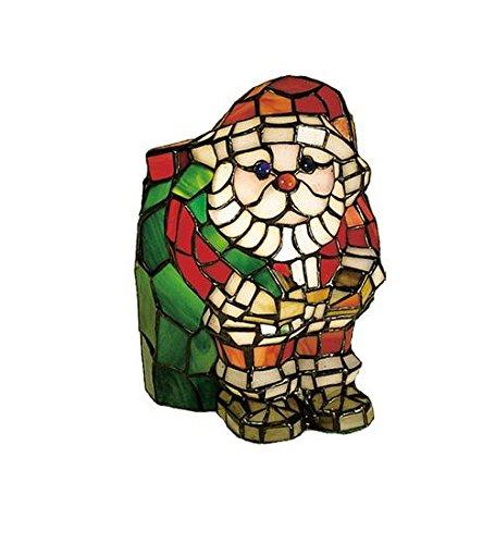 Meyda Tiffany 17241 Santa Claus Glass Accent Lamp, 9