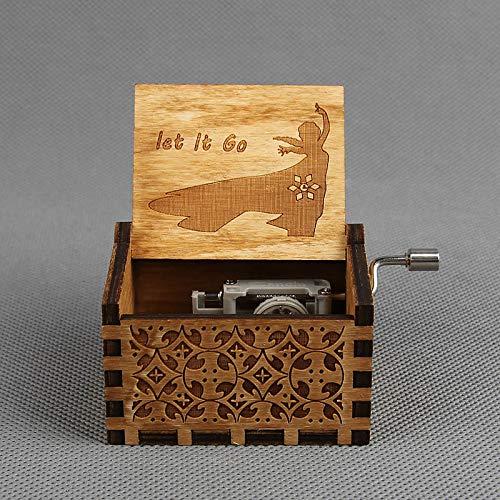 VDV Music Box - Music Box Wooden Quote hedwigs Theme Musical Gift Star war caja Musical Musica Box -