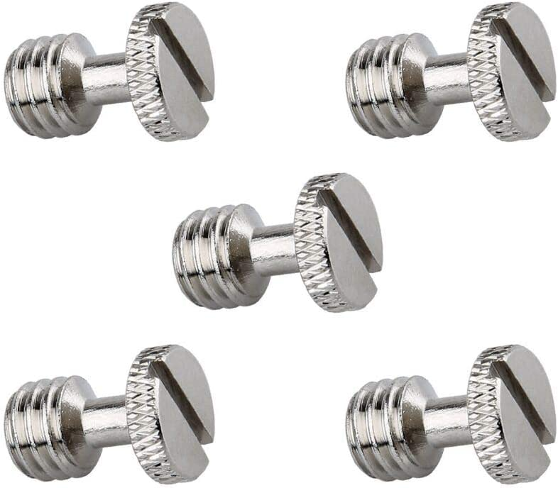 NICEYRIG 3/8 Inch Camera Quick Release Screw Tripod Screw Adapter Connecter DSLR Camera Rig Accessories- 5 Pack