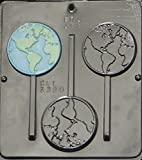 World Earth Globe Lollipop Chocolate Candy Mold 3320
