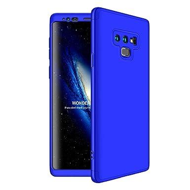 Funda compatible Samsung Galaxy Note 9, 3 en 1 Bumper Carcasa 360 Protective Case Dura rígida PC Hard ultrafina Slim Dactilares Protectora Caso Skin ...