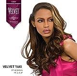 Outre Velvet Remi 100% Human Hair - Yaki Weaving 12' Color 1B Off Black