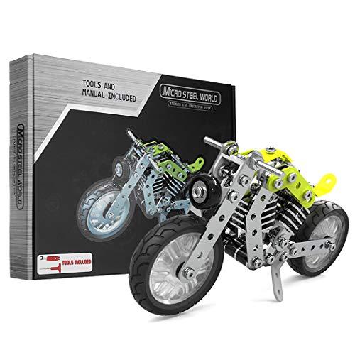 GGIENRUI Motorcycle Building Blocks Set 158PCS STEM Kids Educational DIY Motorcycle Model Kit Best Birthdays Children