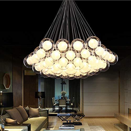 FidgetGear Modern Glass Ball Bubble LED Pendant Lamp Chandelier Ceiling Lights with G4 Bulb Cool White 15 Heads by FidgetGear (Image #6)