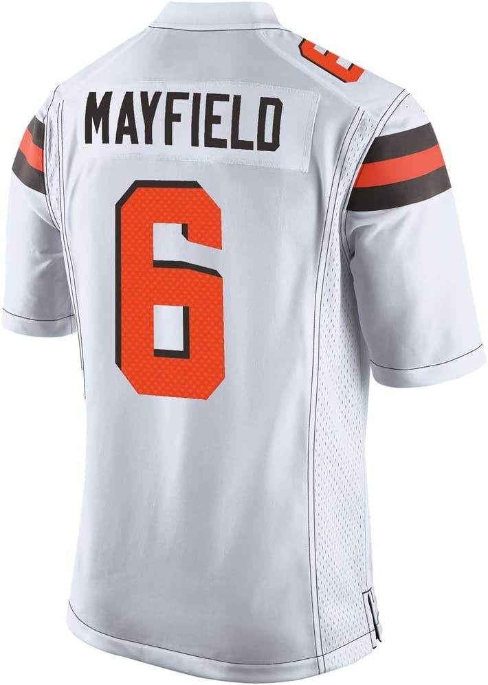 Baker_Mayfield_White #6 Fans Jersey Sportswears Camiseta de fútbol, Mujer-L: Amazon.es: Deportes y aire libre
