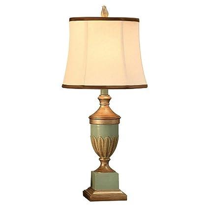 AEXU Elegante Resina romántica retro tallada lámpara de mesa ...
