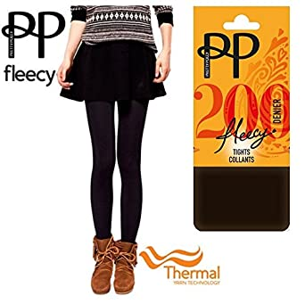 212e5743a5f37 Pretty Polly® 200 Denier Thermal Fleece Fleecy Opaque Extremely Soft & Cosy  Tights Collant -