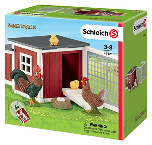 Schleich Chicken Coop Play Set (8 Piece)
