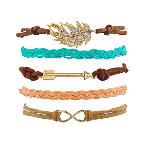 [Lux Accessories Boho Multi Color Arm Candy Set (5PC)] (Arm Candy Costume)