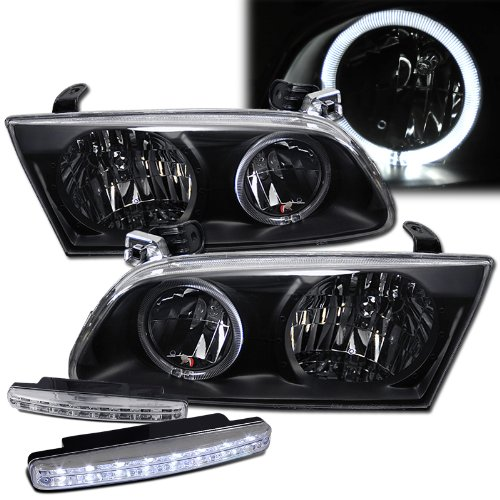 2000 Toyota Camry Halo Headlights Lamps + 8 Led Fog Bumper Light ()