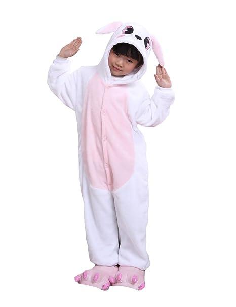 Cliont Niños Animal Conejo Onesie Pijama Navidad niño Traje de Noche Cosplay Anime