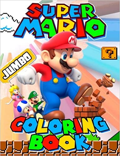 Super Mario Jumbo Coloring Book Great Activity Book For