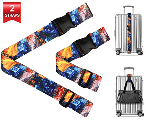- Vincent Van Gogh Cafe Terrace Travel Luggage Strap Suitcase Security Belt. Heavy Duty & Adjustable. Must Have Travel Accessories. TSA Compliant. 1 Luggage Strap & 1 Add A Bag Strap. 2-Piece Set.