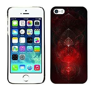 - Dark Hell Evil Cool Demonic - Caja del tel????fono delgado Guardia Armor- For iPhone 5 / 5S Devil Case