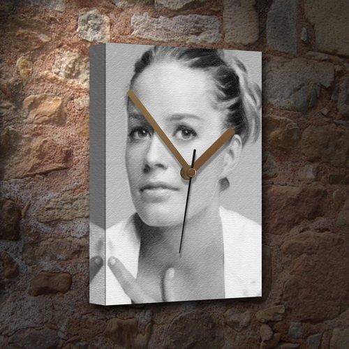 Seasons Elisabeth Shue - Canvas Clock (Large A3 - Signed by The Artist) #js003
