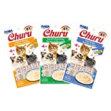 Ciao Churu Cat Treat Creamy Puree Bundle of 3 Packs (1 pack Chicken flavor, 1 pack Tuna with Chicken flavor, 1 pack Tuna flavor)