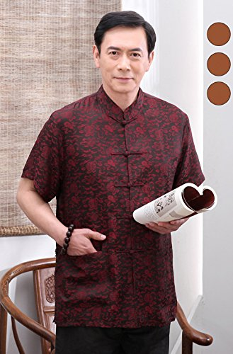 High-end Business Shirts Tang Suit Casual Shirts Chinese National Style Mulberry Silk by JIANYUAN-Tang Suit (Image #1)