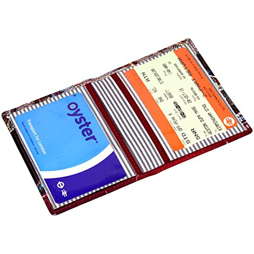 Oyster Leather Printed Printed Card Travel Holder Leather 'Tunnel'' Travel Pass Pass ZZwIRq0