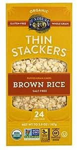 Lundberg Organic Thin Stackers? Rice Cakes Salt-Free Brown Rice -- 5.9 oz - 2 pc