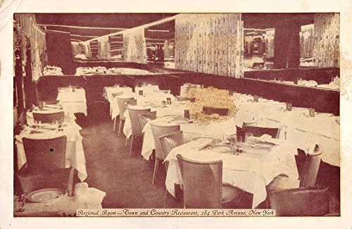 New York City New York Regional Room Town amp; Country Restaurant vintage pc Z23174