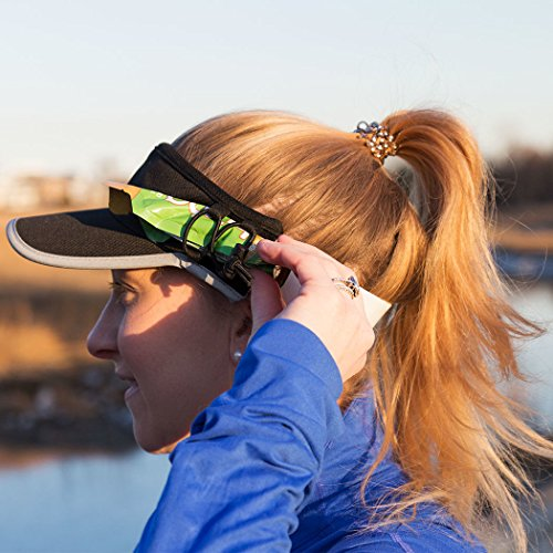 Gone For a Run Ultralight Visor With RunTechnology | Moisture Wicking and Reflective Sports Visor | Black by Gone For a Run (Image #3)
