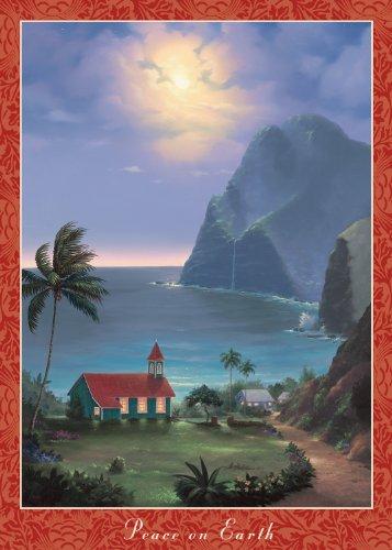 Hawaiian Christmas Cards (12) - Peace on Earth by Lance Fairley - Season's Aloha Mele Kalikimaka