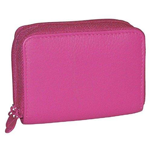 Buxton RFID Wizard Wallet (Pink)