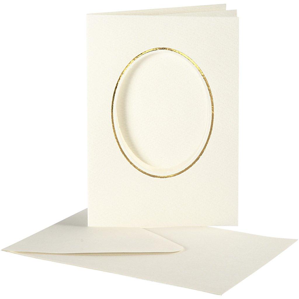 Off-White Creativ Company 23724 10-Piece Passepartout Card
