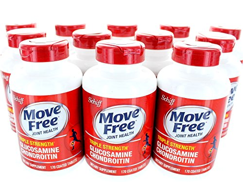 Move Free Advanced Triple Strength, 170 Count (Pack of 12) by Schiff