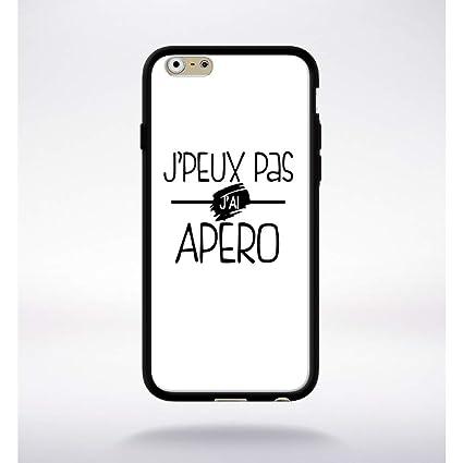 Generique Coque J Peux Pas J Ai Apero Fond Blanc Compatible Iphone