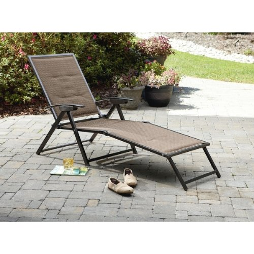 Garden Oasis Harrison Matching Folding Padded Sling Chaise Chairs Patio a