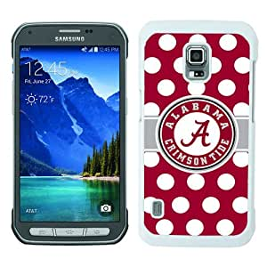 Unique Samsung Galaxy S5 Active Cover Case ,Hot Sale And Popular Designed Case With Alabama Crimson Tide 2 White Samsung Galaxy S5 Active Case Unique And Cool Phone Case