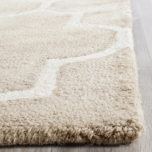 Safavieh Dip Dye Collection DDY535G Handmade Moroccan Watercolor Beige and Ivory Wool Area Rug (2' x (Wool Area Accent)