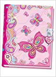 : Pecoware Butterfly Diary with Lock