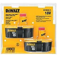 2-Pack Dewalt DC9096-2 XRPx 18V 2.4 Ah Ni-Cd Power Tools Battery