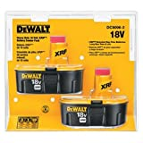 dewalt 18 v battery - DEWALT DC9096-2 18-Volt XRP 2.4 Amp Hour NiCad Pod-Style Battery (2-Pack)