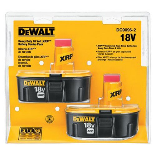 Dewalt DC9096-2 18V XRP Battery Combo - Battery 2 X New
