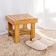 Wooden Step Stool for Kids Toddlers Adults - Portable Small Foot Stool Upgrade - Kitchen Bathroom Bedroom